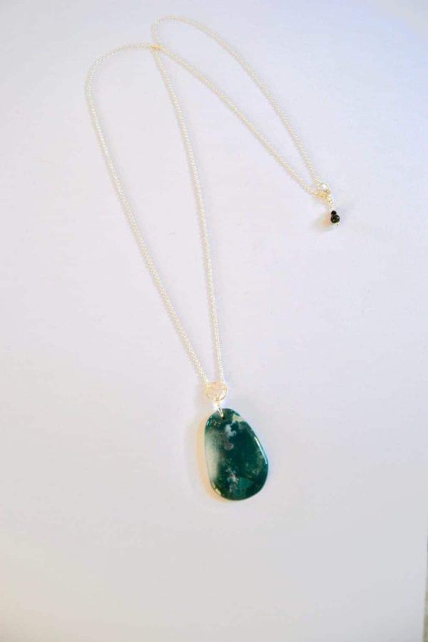 bijoux-pierre-argent-vrai-sautoir-lithotérapie-agate-mousse-1