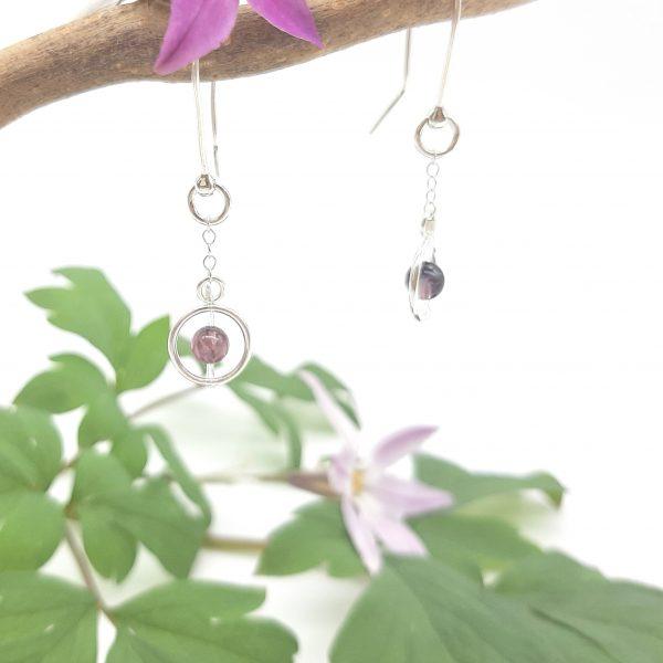 bloucle-orielle-pierres-bijoux-argent-cadeau-fete-mere-femme-funambule-tourmaline-rose-1